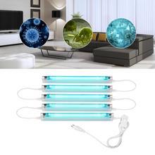 6W 8W UVC lamp Quartz Germicidal Bactericidal lamp Ultraviolet lamp UV Sterilizer Deodor kill Virus Ozone UV light T5 Tube Bulb