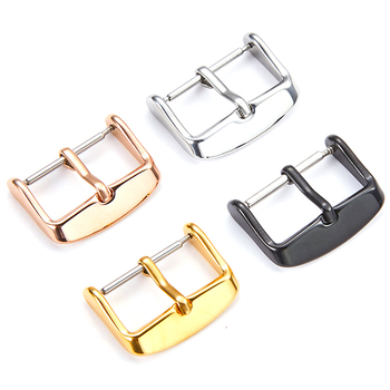 Watch Band Buckle Stainless Steel Clasp Polished Brushed 16MM 18mm 20mm 22mm 24mm maikes stainless steel watch buckle 16mm 18mm 20mm 22mm 24mm 26mm black silver rose gold leather watch band buckle