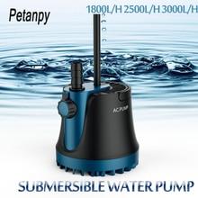 25/35/60W 새로운 가정 잠수 할 수있는 물 펌프 잠수 할 수있는 폭포 수족관 물고기 탱크를위한 침묵하는 분수 펌프 정원 분수 220V