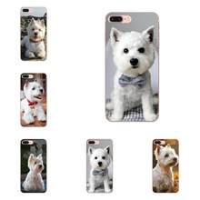 Westie Terrier Cucciolo di Cane Highland Terrier Per LG G2 G3 G4 G5 G6 G7 K4 K7 K8 K10 K12 K40 mini Plus Dello Stilo ThinQ 2016 2017 2018(China)