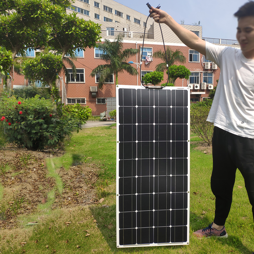 Image 3 - Dokio 12V 100W Flexible Monocrystalline Solar Panel For Car/Boat/ Home Solar Battery Can Charge 12V Waterproof Solar Panel ChinaSolar Cells   - AliExpress