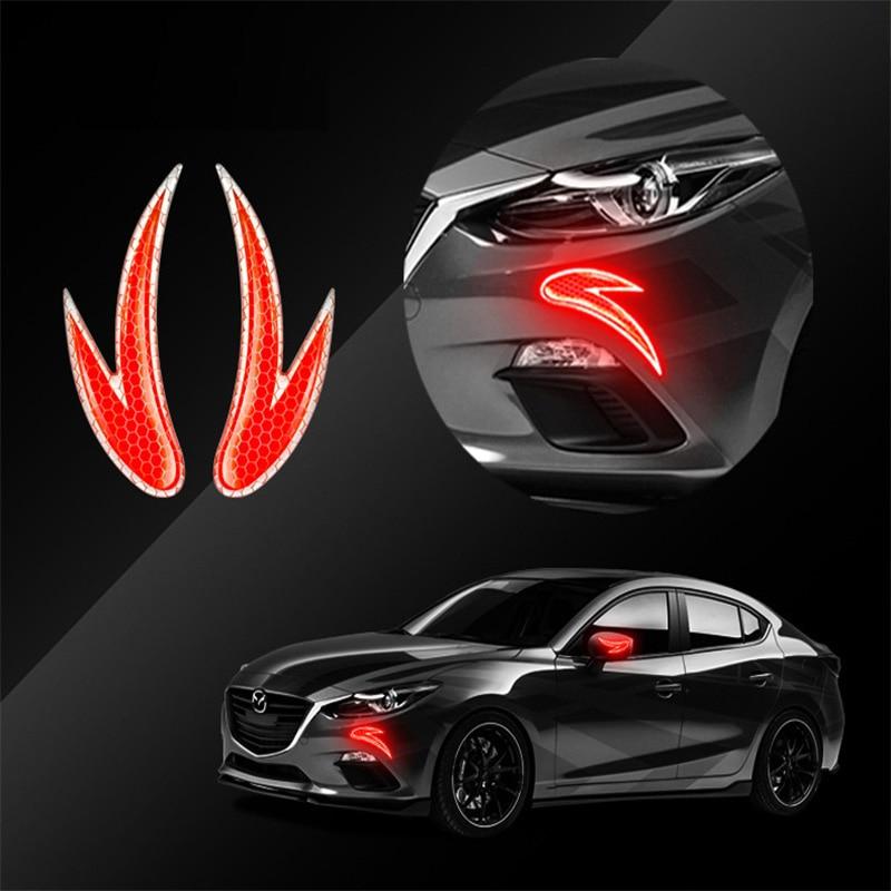 1 пара автомобильных зеркал заднего вида, противоцарапающаяся полоса, передняя и задняя углы, светоотражающая Резиновая лента против столк...