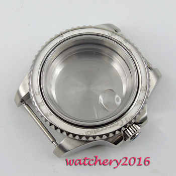New 40mm parnis steel polished stainless case sapphire hardened mineral glass fit 2824 2836 Miyota 8215 movement Watch Case - DISCOUNT ITEM  25 OFF Watches