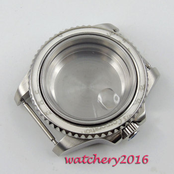 New 40mm parnis steel polished stainless case sapphire hardened mineral glass fit for 2836 Miyota 8215 movement Watch Case new 45mm polished stainless steel case high quality hardened mineral glass fit 6497 6498 st 36 molnija movement watch case