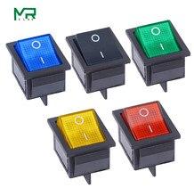 Kcd4 interruptor de balancim ligado 2 posição 4 pinos/6 pinos equipamento elétrico com tampão de interruptor de alimentação leve 16a 250vac/20a 125v