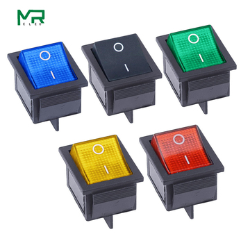 KCD4 Rocker Switch ON-OFF 2 Position 4 Pins /6 Pins Electrical equipment With Light Power Switch Switch cap 16A 250VAC/ 20A 125V kcd4 203 20a 250vac 30x22 waterproof rocker switch 6pin dpdt on off on 12v 220v red green led light rocker switch