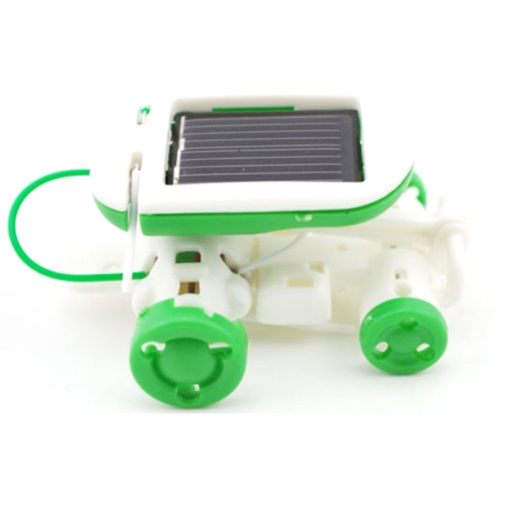 6 In 1 Solar Robot Model Kit Science Toys For Children Diy Assemble Airplane Boat Car Train Model Educational Gifts Toys image