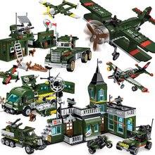 Tanques militares ww2, juegos de vehículos compatibles, bloques de construcción de la Primera Guerra Mundial, 1 creador de camiones blindados, avión jeep