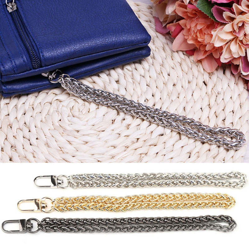 Women New Bag Chain Handle DIY Replacement Wrist  Clutch Purse Coin Bag Strap Metal Chain Gold Black Silver Bags Accessories Hot