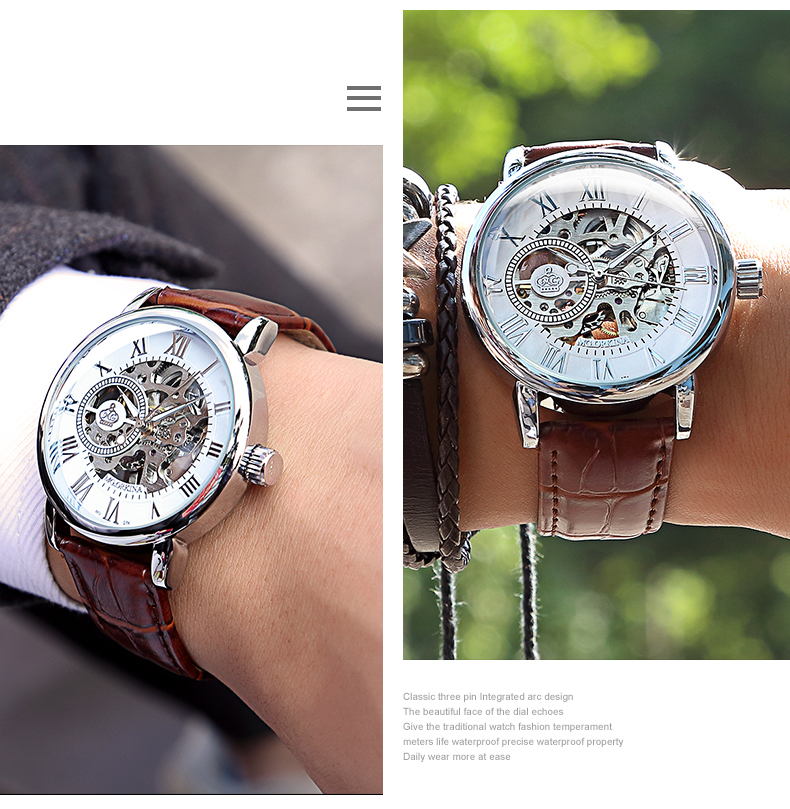 H386401e6021941abb8c71f971d310029E Coupons Sale Men Watches Mechanical Hand Wind Luxury Top Brand ORKINA Skeleton Stainless Steel Bracelet Mesh Strap Men's Watches