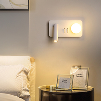 Nordic LED Wall Light Home Indoor Wall Wall Fixture designer bedside lamp white bedroom modern rotation 4W soft lights