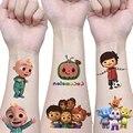 Cocomelon вечерние тату-наклейка для дня рождения вечерние украшения подарок Слово Вечеринка стикер фигурку стикеры мультфильм дети подарок