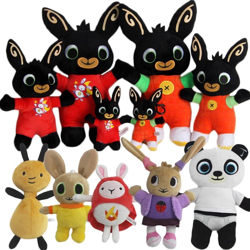 15-35cm Genuine Bing Bunny Plush toy sula flop Hoppity Voosh pando bing coco plush doll peluche toys children birthday gifts