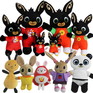 15-35cm Genuine Bing Bunny Plush toy sula flop Hoppity Voosh pando bing coco plush doll peluche toys children birthday gifts