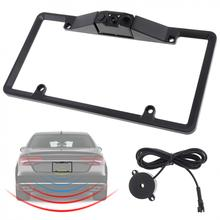 USA License Plate Video Parking Sensor with LED Night Vision Rear View Camera and Buzzer New цена в Москве и Питере