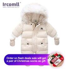 Ircomll mono grueso y cálido para bebé, con capucha y forro polar interior para niño y niña, monos de invierno y otoño, ropa de abrigo para niño, traje de nieve para niño