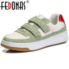 FEDONAS Genuine Leather Women Sneakers Round Toe Platform Women Flat Shoes 2021 Summer Newest Office Lady Casual Shoes Woman