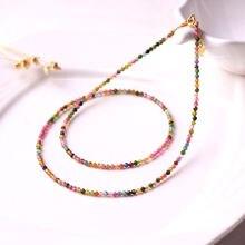 Натуральный камень ожерелье из турмалина 28 мм Ювелирные наборы