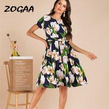 Zogaa/модное летнее пляжное платье с цветочным принтом в стиле