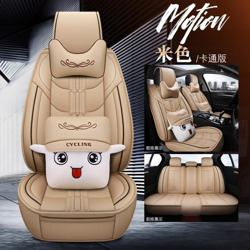 High Quality PU Leather car seat cover For Russia KIA K2 Rio 3 Picanto ( Front + Rear ) 5 seat Seat cushion Automobiles Seat Covers    - title=