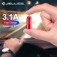 Jellico 18W 3.1A Car Charger Quick Charge 3.0 Universal Dual USB Fast Charging QC For iPhone Samsung Xiaomi Mobile Phone In Car