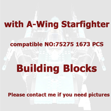 2021 Latest Children's Building Block Toys Compatible with  Star A-Wing Starfighter 75275 MOC Assembly Toys Children's Gifts