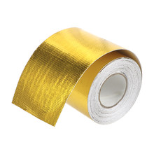 LEEPEE Car Accessories Intake Tube Aluminum Foil Tape High Temperature Resistance 5cm*5m Gold Insulation Self adhesive Tape(China)