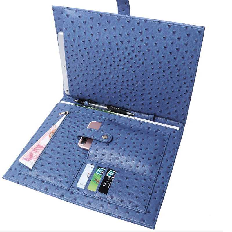 Fashionable New Ostrich Pattern IPaid Protective Wallet Bag Convenient Capacious Elegant Snake Receive Female File Bag