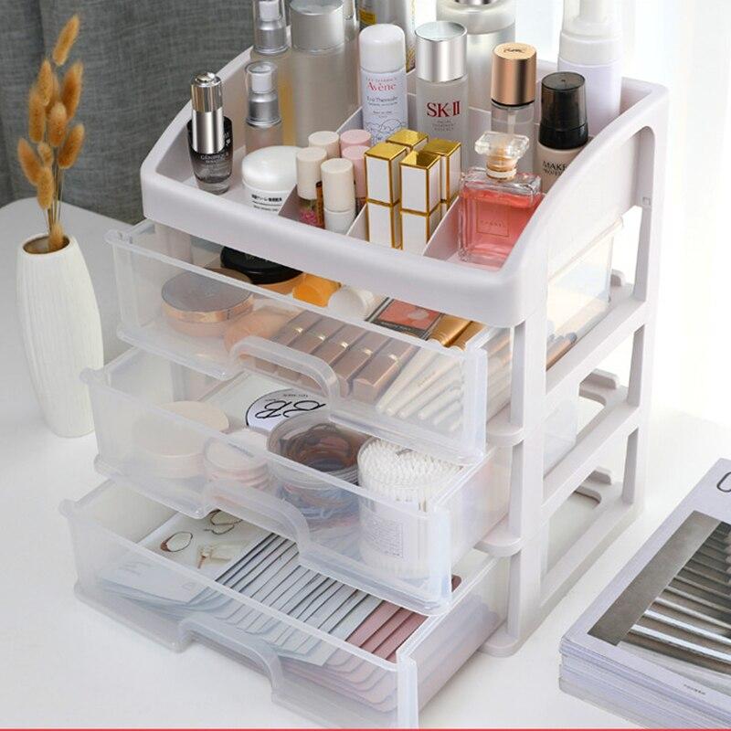Plastic Makeup Organizer Box Drawer Organizer For Cosmetics Box Jewelry Storage Box Large Make Up Organizer Box For Cosmetics