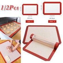 Forno durável cozimento de silicone esteira antiaderente biscoito placa forno esteira saudável suprimentos de cozinha ferramentas