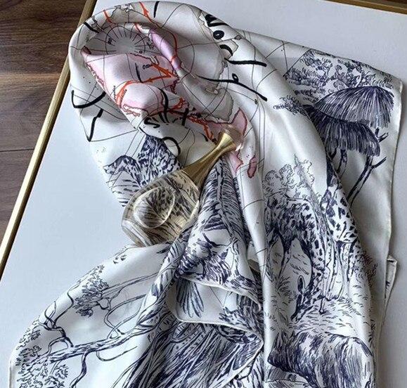 Купить шелковый шарф на Алиэкспресс
