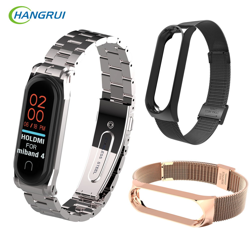 Mi Band 4 Stainless Steel Strap For Xiaomi Mi Band 3 4 Smart Bracelet Metal Watch Band For Xiaomi Band4 Mi4 Smart Accessories
