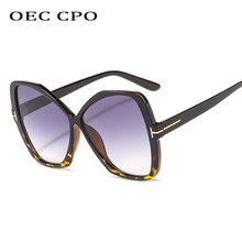OEC CPO Fashion Butterfly Sunglasses Women 7 Colors plastic For Accessories Gradient Shades UV400 O262