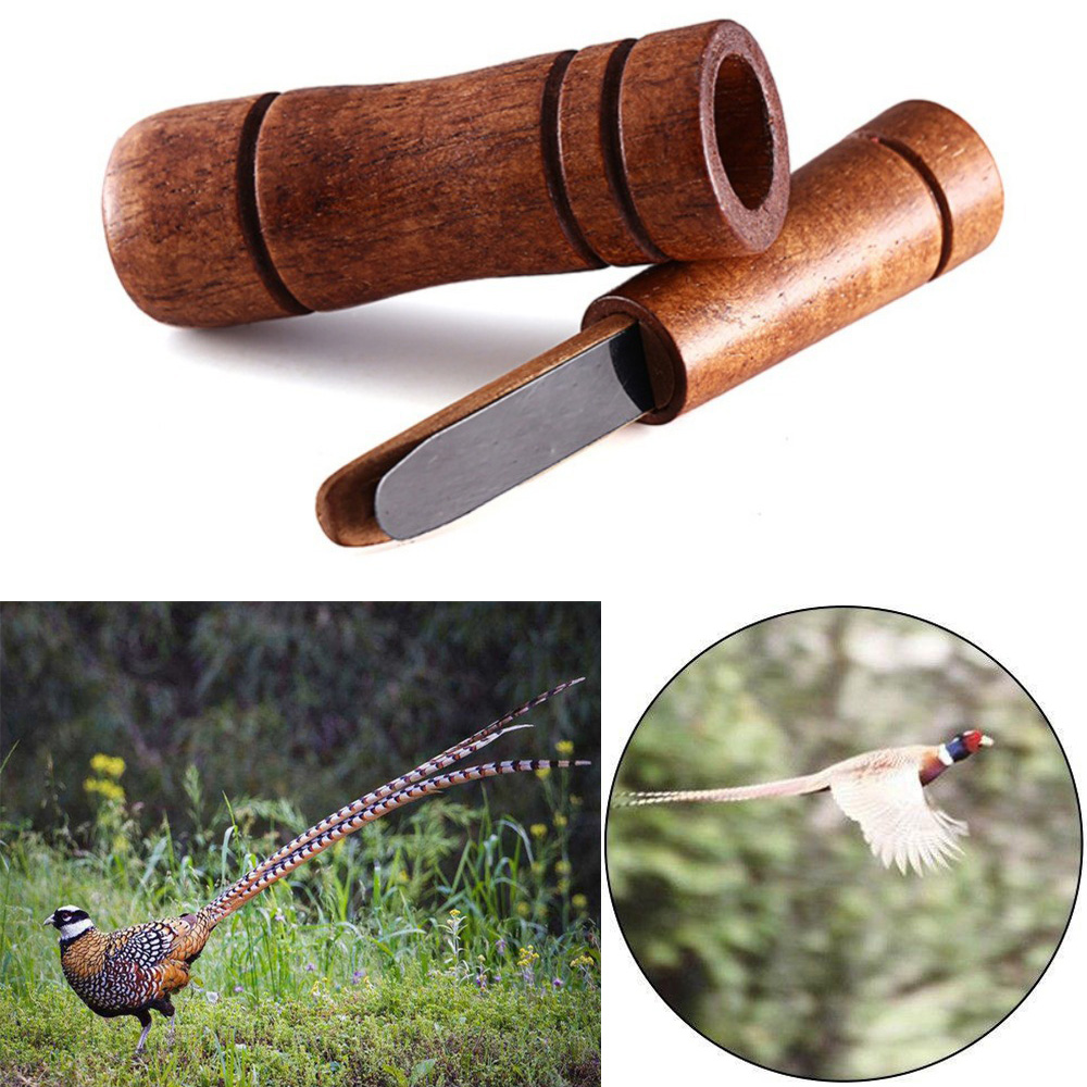 Hunting Whistle Wooden Decoy Imitate Pheasant Duck Call Voice Call Bird Goose Voice Trap Brown Oak Wooden Whistle Drop Ship|Hunting Decoy| |  - title=