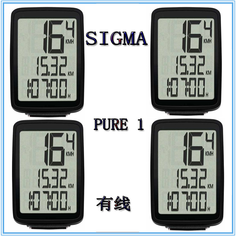 Sigma PURE Bicycle Speed Meter Cable Mountain Bike Riding Speedometer Long Distance Mileage Timer