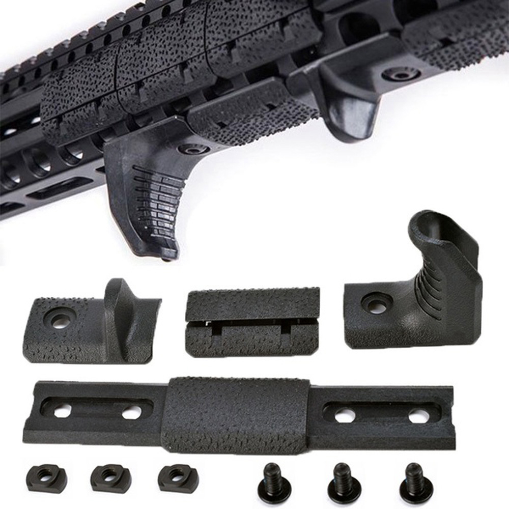 WADSN Airsoft Tactical M-LOK Hand Stop Kit For KeyMod M LOK Attachment System M-lok Handguard 4 Pcs/set Acessories MP02057