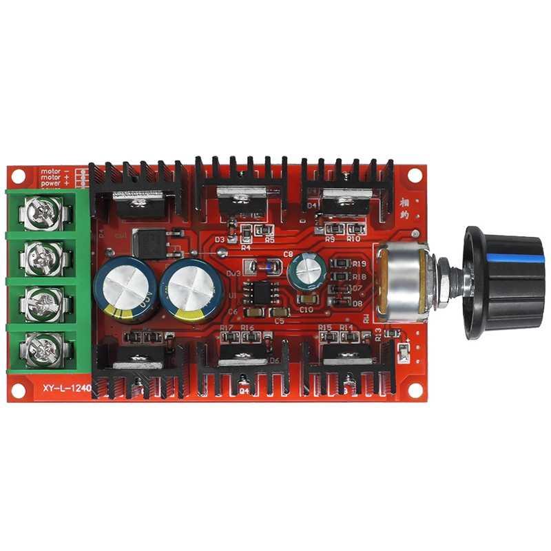 Sıcak 12V 24V 48V 2000W MAX 10-50V 40A dc motor hız kontrolü PWM HHO RC denetleyici