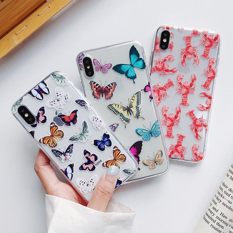 Śliczne Butterfly etui na telefony dla Huawei P40 P30 P20 Lite Mate 30 Pro 20 P inteligentne Nova 5t dla honoru 20 Pro 10 8X 9X V20 miękkie okładki