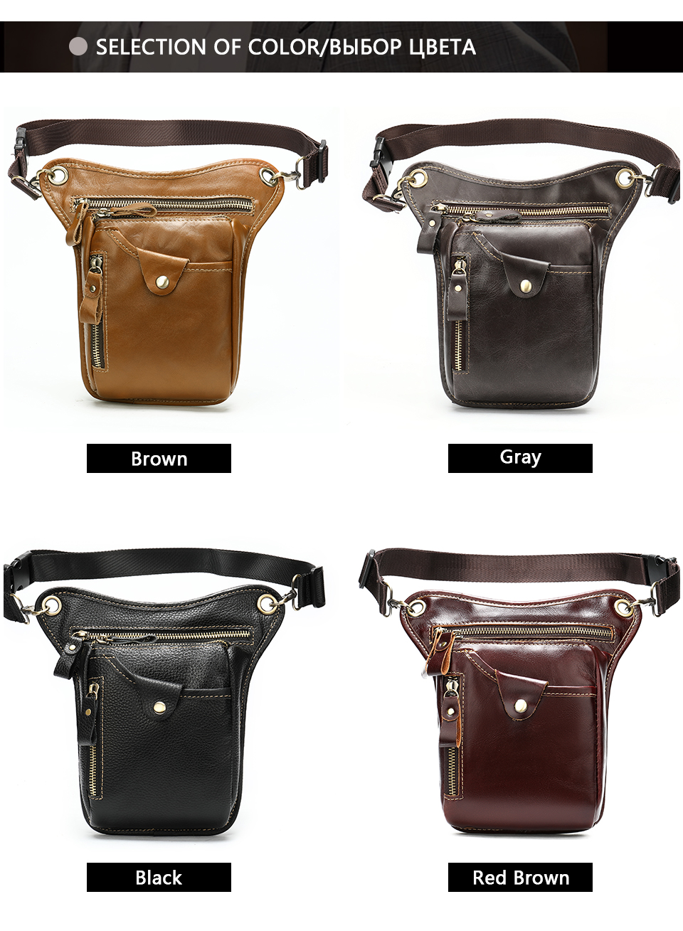 Image 3 - WESTAL mens belt bag leather leg bag male fanny pack waist bags men tactical phone pack fashion leather motorcycle bags for menWaist Packs   -