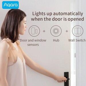 Image 5 - Aqara Door and Window Sensor Smart Zigbee Wireless work with Xiaomi Mi Home App compatible Apple HomeKit Siri Door open alarm