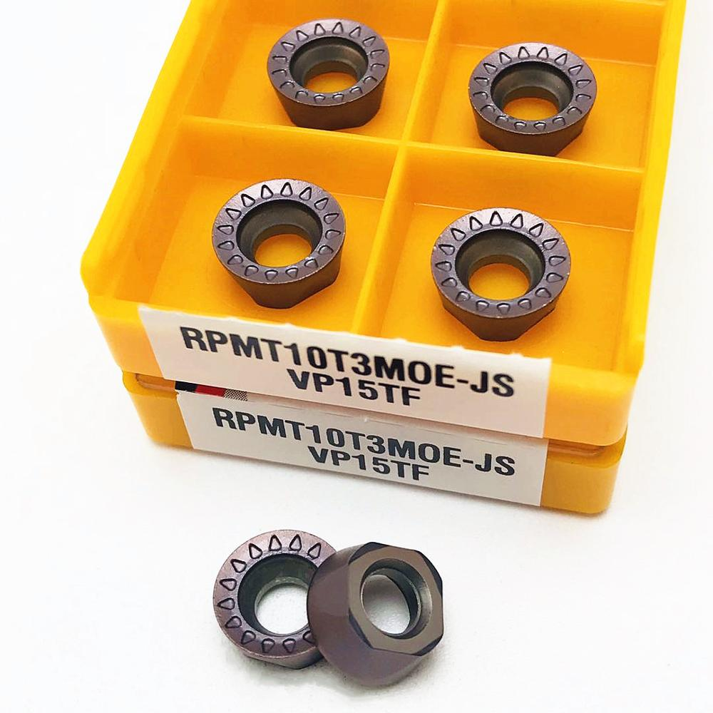 Купить с кэшбэком 10PCS New lathe tool RPMT10T3MOE JS VP15TF high quality internal round carbide insert CNC metal turning tools milling insert
