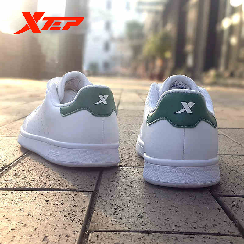 Xtep Men White Skateboarding Shoes 2019 New Fashion Comfortable Breathable Light Sport Sneaker Shoes For Men 983219319266