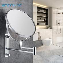Mirror-Cabinet Extendable Bathroom-Mirror Wall-Mounted Makeup Smartloc Magnifying 1X5X