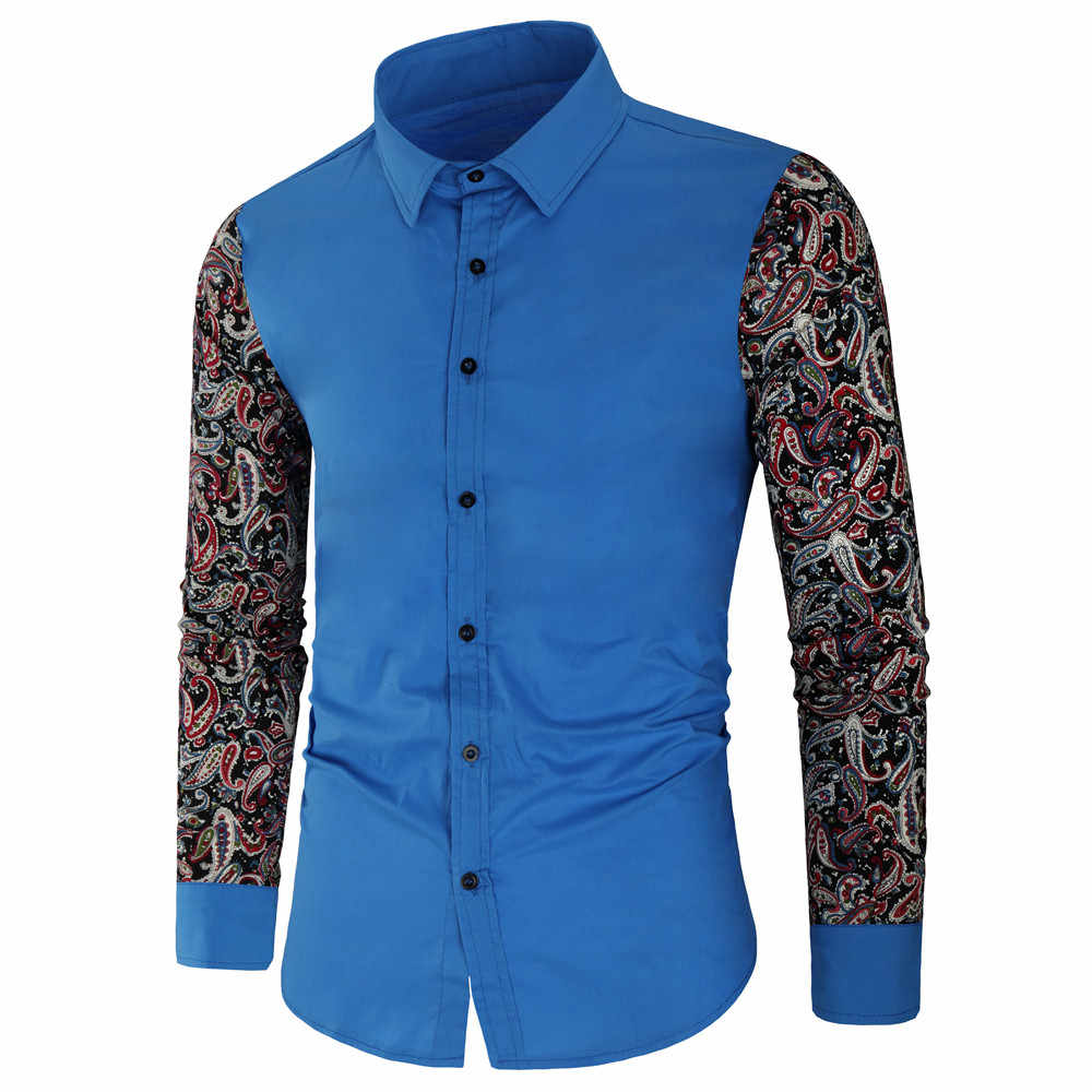 봄 가을 기능 셔츠 남성 캐주얼 셔츠 긴 소매 캐주얼 슬림 맞는 남성 셔츠