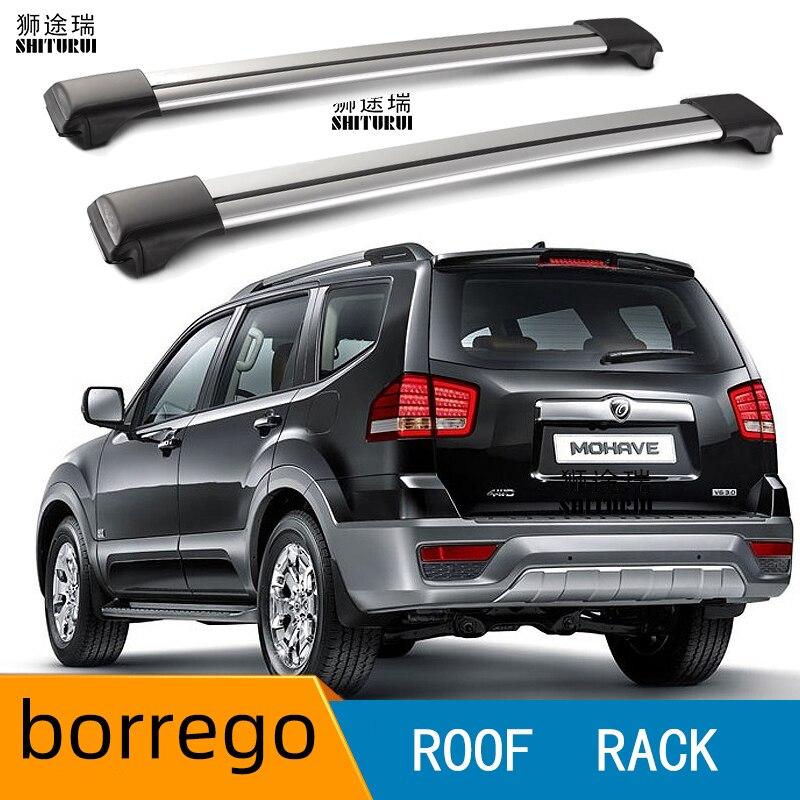 2Pcs Roof Bars For KIA - BORREGO MOHAVE [2007-today] Aluminum Alloy Side Bars Cross Rails Roof Rack Luggage Load 100KG