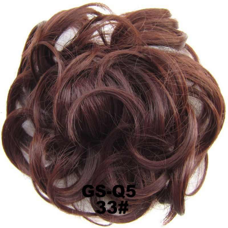 Wanita Wanita Suhu Tinggi Filamen Elastis Gelombang Keriting Sintetis Hairpieces Bungkus Aksesoris Rambut untuk Wanita