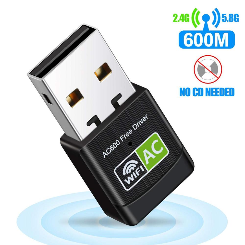 AC600Mbps high Speed USB Plug WiFi Network Adapter dongle Desktop Wireless