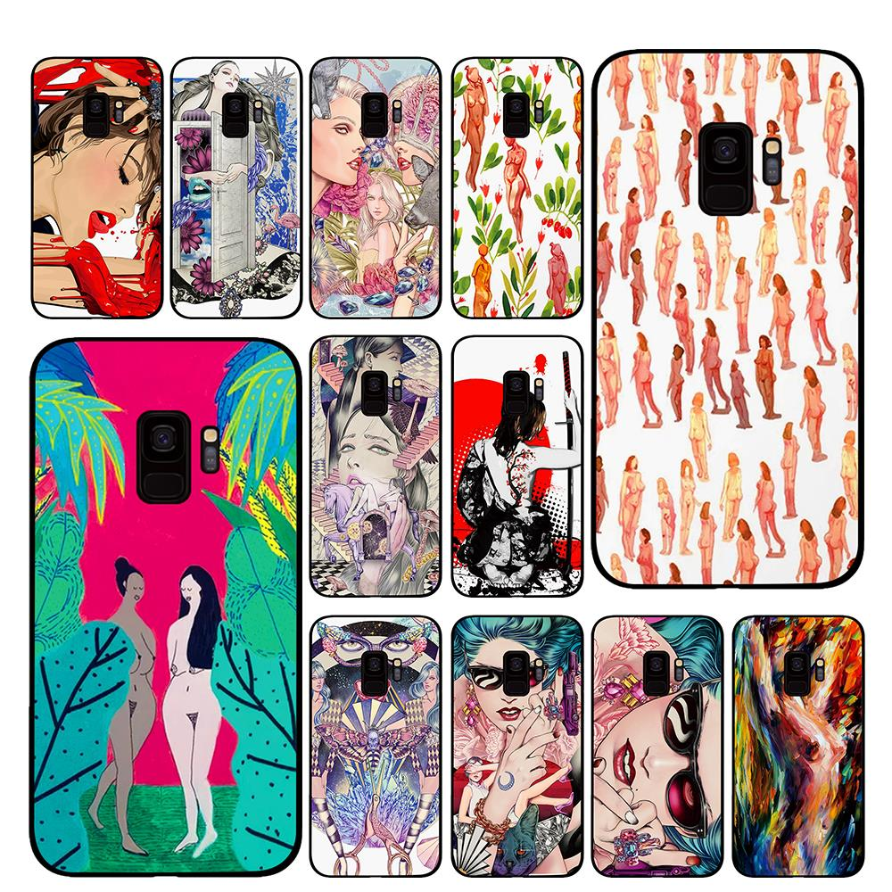 Naked <font><b>Sex</b></font> <font><b>girls</b></font> Phone Case for Samsung Galaxy A6 A8 Plus A7 A9 2018 A5 2017 <font><b>18</b></font> J530 J7 J8 image