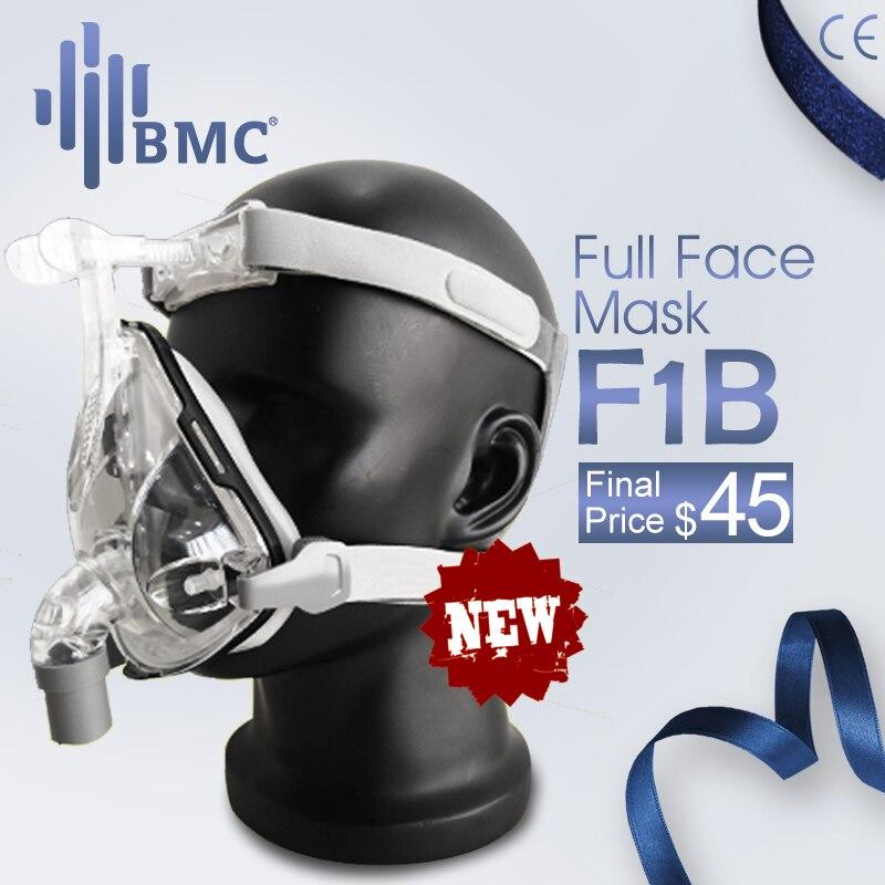 BMC F1B Volle Gesicht Maske 2019 Mode Typ Für CPAP BIPAP Maschine Größe S/M/L Haben Spezielle effekte Für Anti Schnarchen Und Schlafmittel