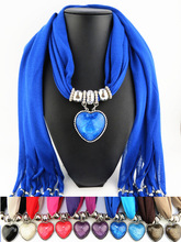 New foreign trade jewelry pendant scarf love resin  big accessories tassel